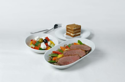 Duck breast with salad